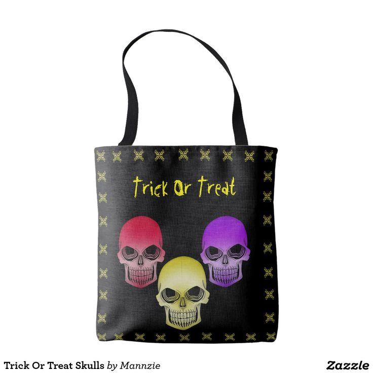 Trick Or Treat Skulls Tote Bag
