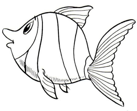 Bajo El Mar Dibujos Recortables Y Posters De Animales Marinos Animales Marinos Pez Para Colorear Dibujo Del Mar
