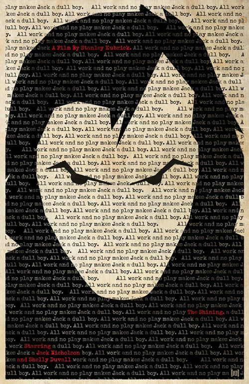 Jack Nicholson in 'The Shining' Poster, pop art, film art, inspiration, graphic art, collage art.