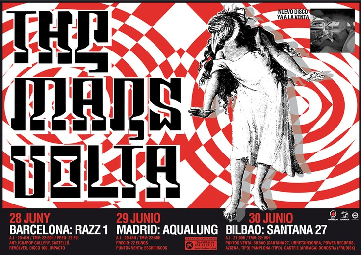 THE MARS VOLTA, Gira 2005 Barcelona / Madrid / Bilbao