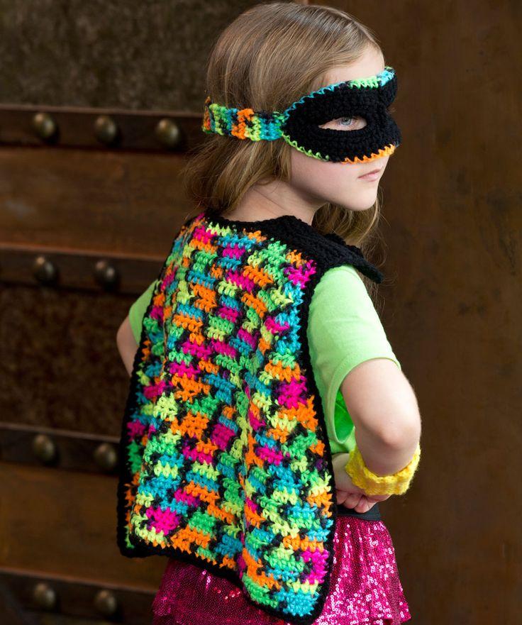 Free Crochet Patterns Red Heart Yarn : Girly Masked Hero Set Free Crochet Pattern from Red Heart ...