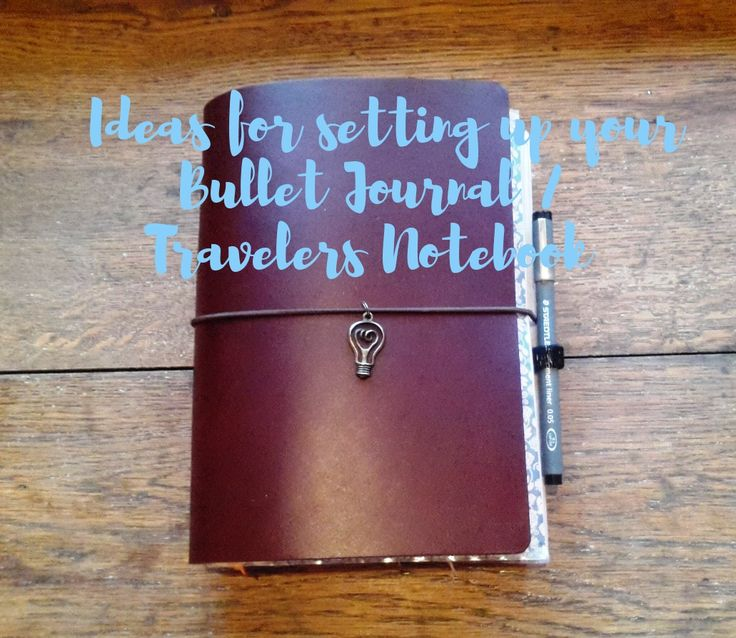 Bullet Journal Travelers Notebook | Midori set ups | TN set up