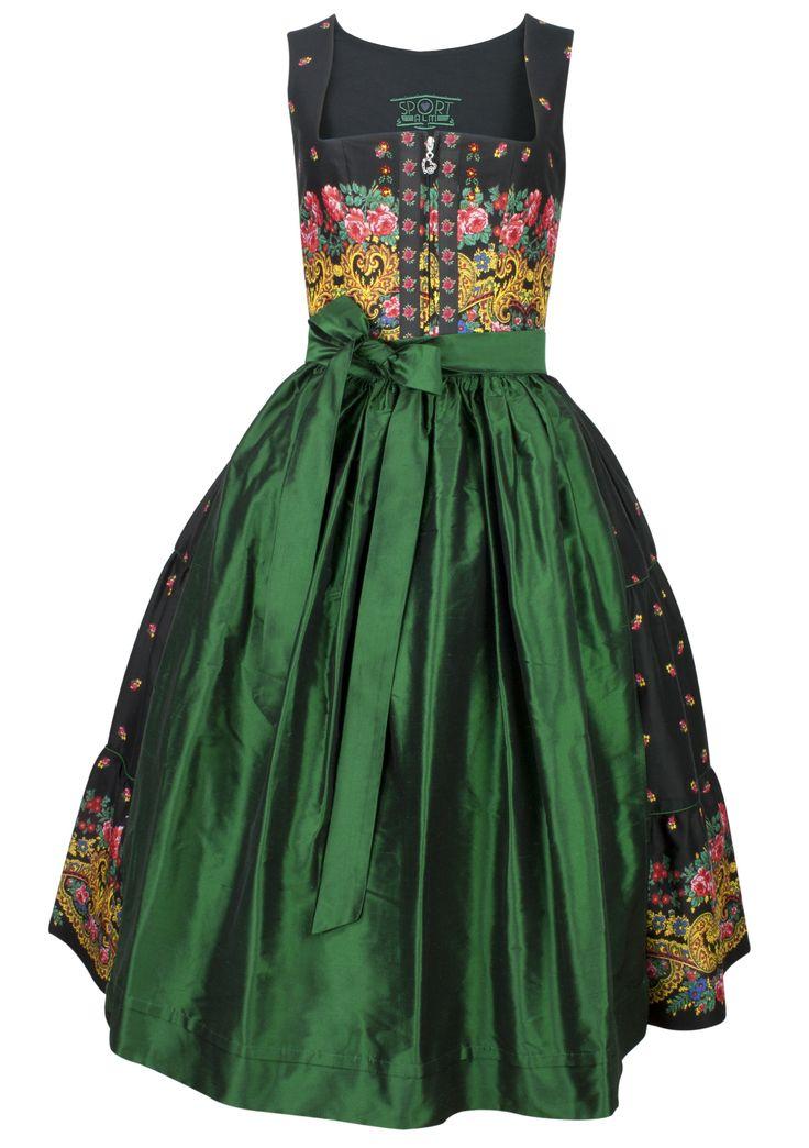 Traditional central European dirndl outfit