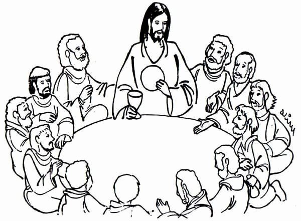 The Last Supper Coloring Page Fresh Jesus Sharing Bread And Wine