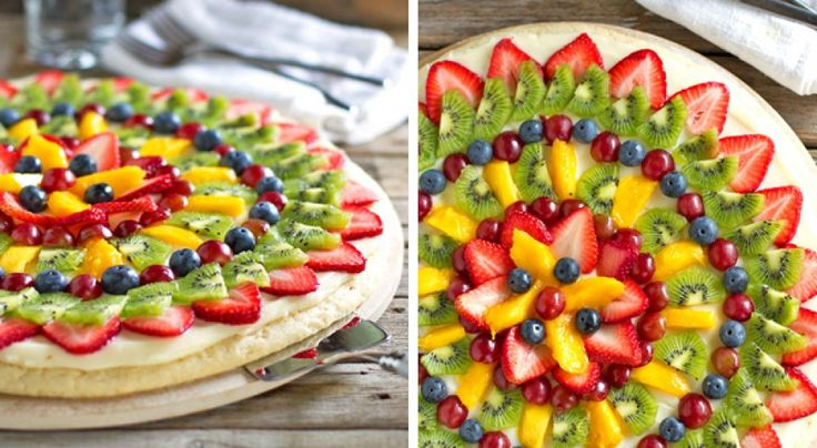 ¿Quién se iba a imaginar que una pizza podía ser tan nutritiva? La base es una galleta gigante untada con frosting de queso crema y decorada con todo tipo de frutas. Una idea muy buena también para fiestas infantiles, seguro que triunfa! INGREDIENTES 1 1/2 tazas de azúcar 2 1/2 tazas de harina 1/2 cucharadita …