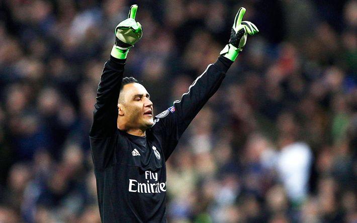 Download imagens Keylor Navas, partida, oalkeeper, futebol, La Liga, O Real Madrid