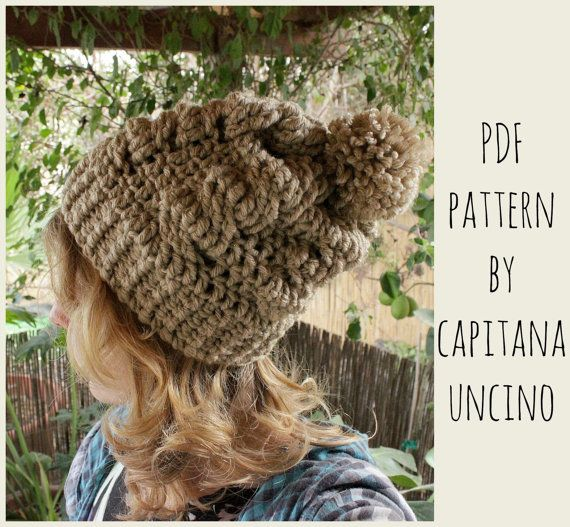 PDF Crochet  PATTERN for Cable Beanie 2 Sizes by CapitanaUncino