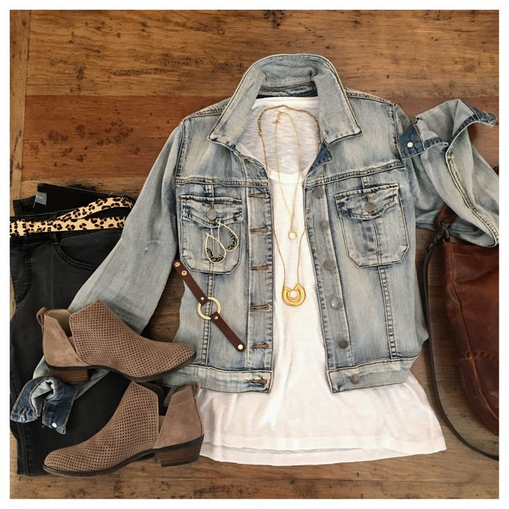 grey jeans, white tee, and my MUST HAVE jacket