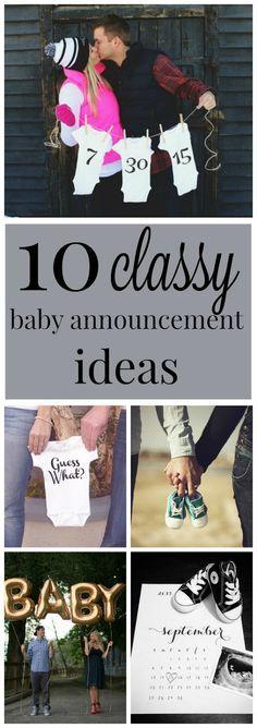 10 classy pregnancy announcement ideas