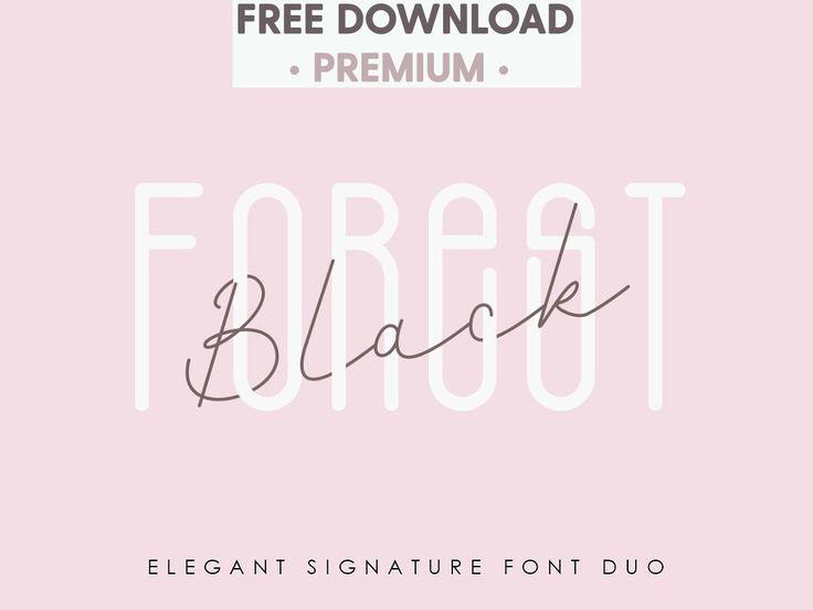 Download Free Download - Black Forest l Elegant Font Duo signature ...