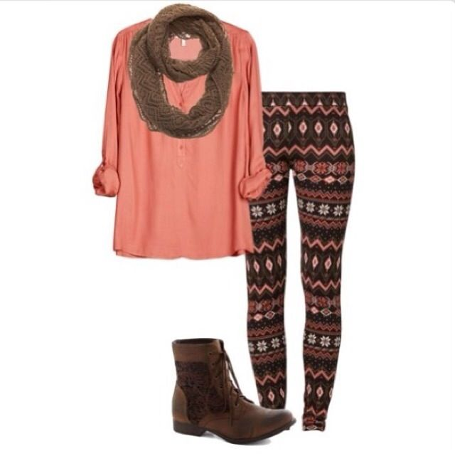 Aztec leggings and scarf!
