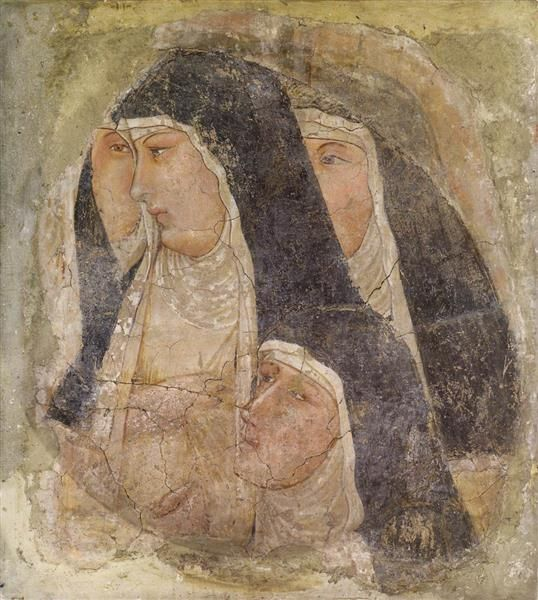 A Group of Four Poor Clares, 1340 - Ambrogio Lorenzetti