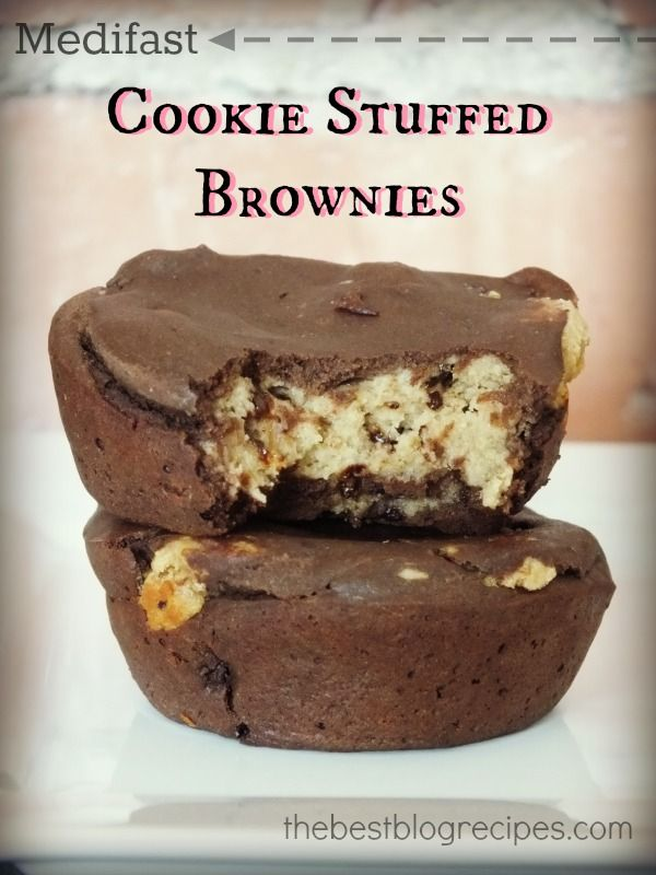 Medifast Cookie Stuffed Brownies   The Best Blog Recipes #weightloss #healthier