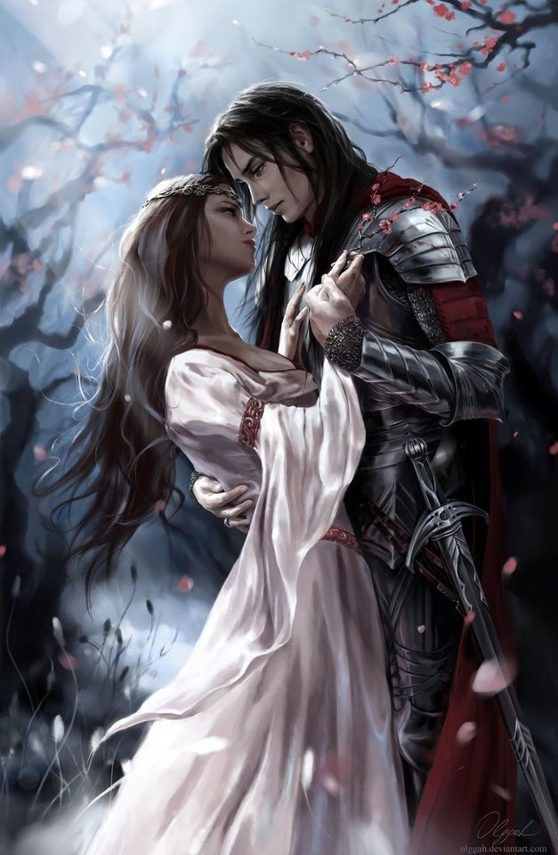 Lancelot and Guinevere  artwork by Olggah on deviantART