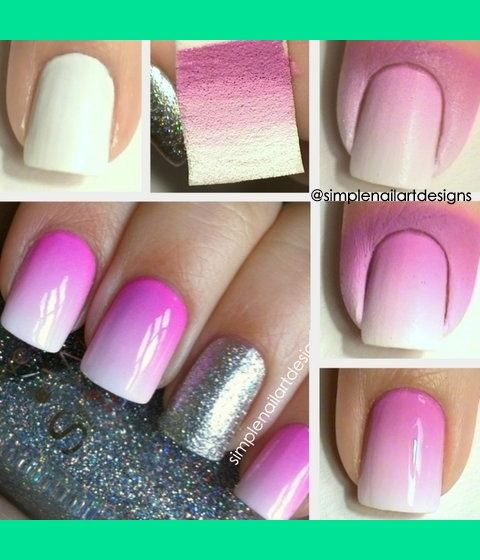 This is the best ombre nail tutorial I've seen!! Dying to try this myself. >> Ombre Nail Art Tutorial   simplenailartdesigns   Beautylish