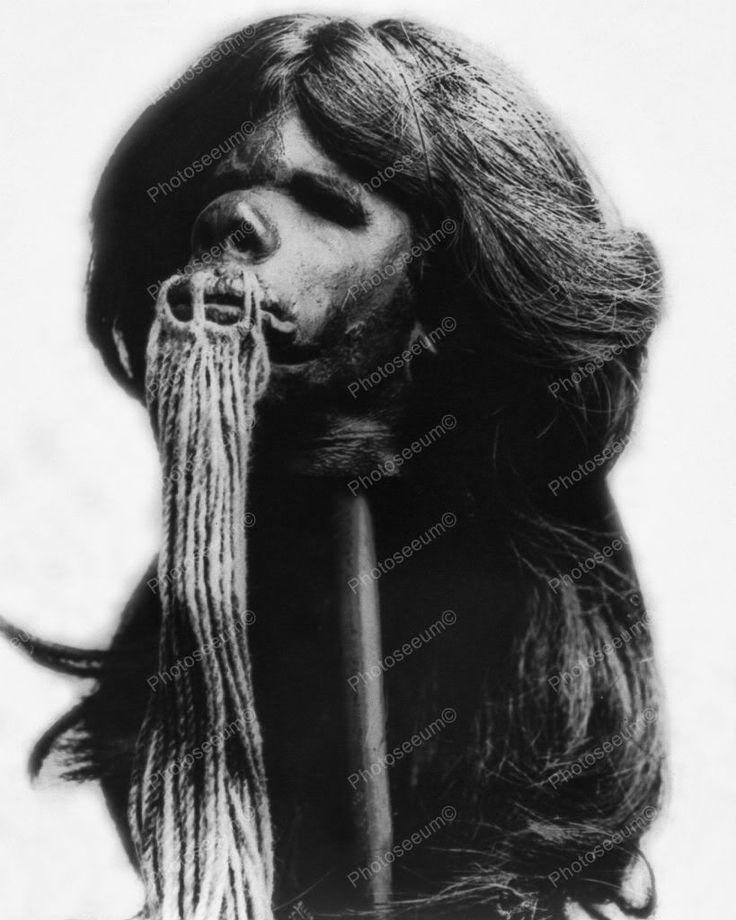 Shrunken Head From Ecuador South America 8x10 Reprint Of Old Photo