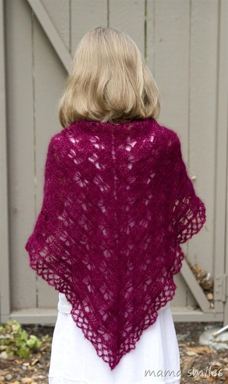 Trying out crochet prayer shawl patterns: Butterfly shawl