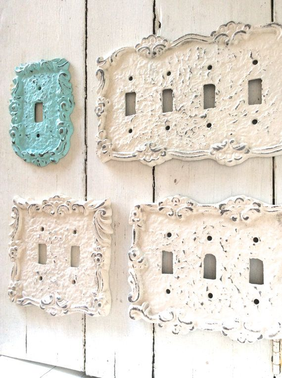 Light Switch Cover, Light Switchplates, Switch Cover, Lightswitch Cover, Light Switch Cover Plates, Shabby Chic, Custom Light Switch Cover