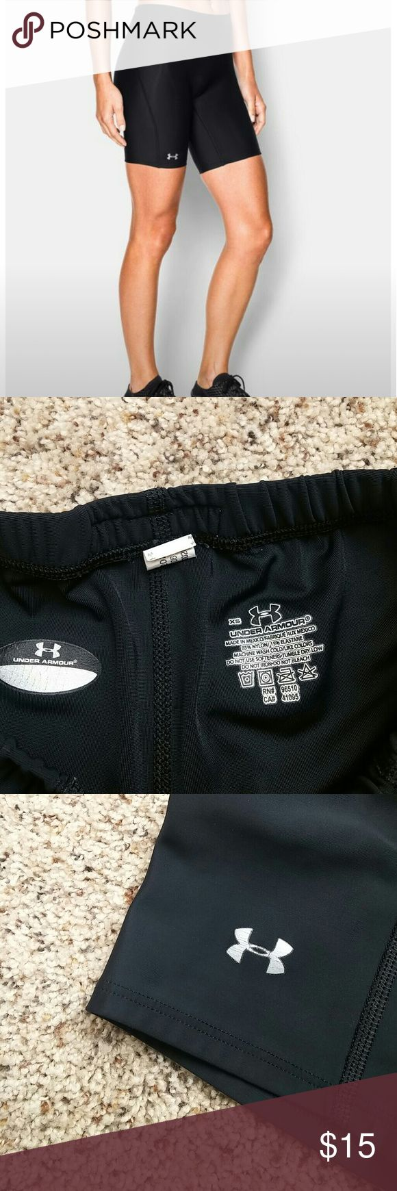 Under Armer Compression Shorts Pre owned in good condition logo has some cracking Under Armour Shorts