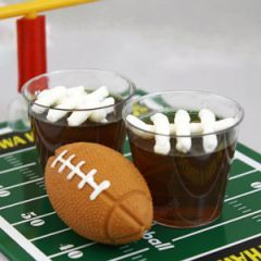 10 jello shots for football.....the fumblerooskie jello shot