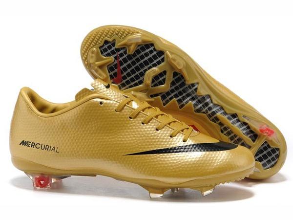 NIKE MERCURIAL VAPOR Ⅸ Chaussures de football Pour Homme Or/Noir-Chaussures De Football Boutique En Ligne,Lvraison Gratuite!