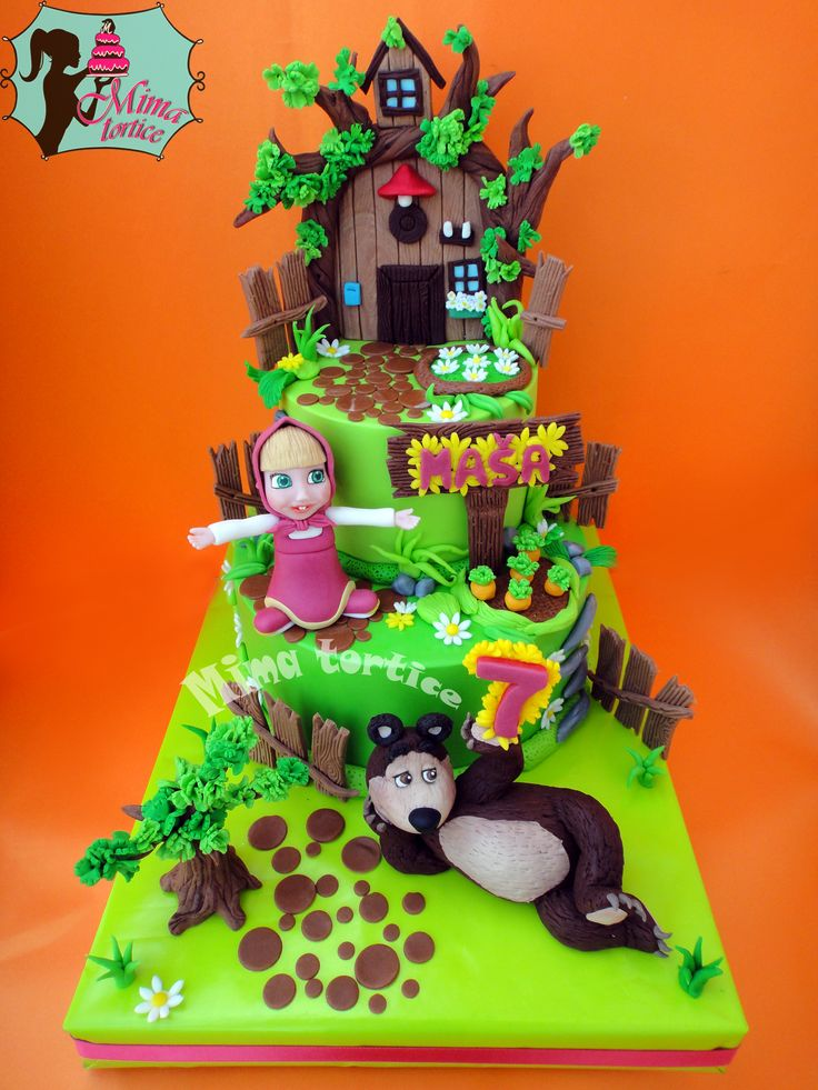 Masha and the bear cake........ Maša i medved torta