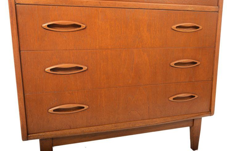 Drop+Front+Mid+Century+Teak+Secretary+Desk+by+by+MidCenturyMobler,+$725.00