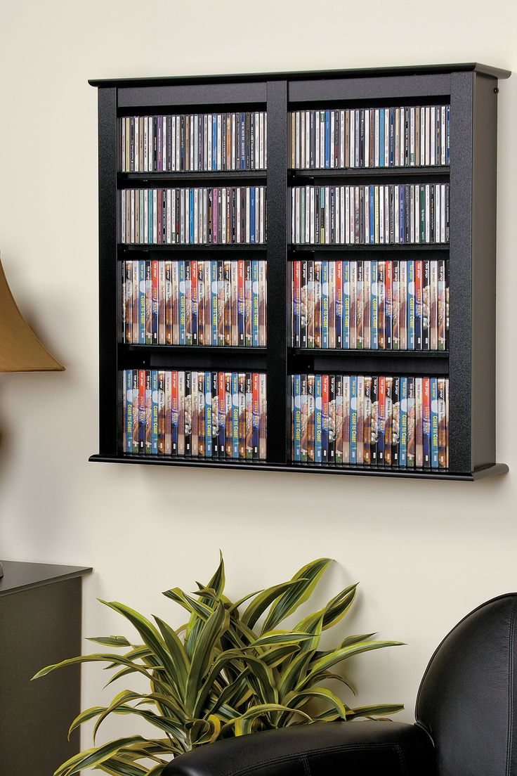 53 best dvd storage of massive collection images on pinterest prepac black medium capacity hanging wall media dvdcdgames storage adjustable shelves constructed from high quality laminated composite woods assembly eventelaan Gallery