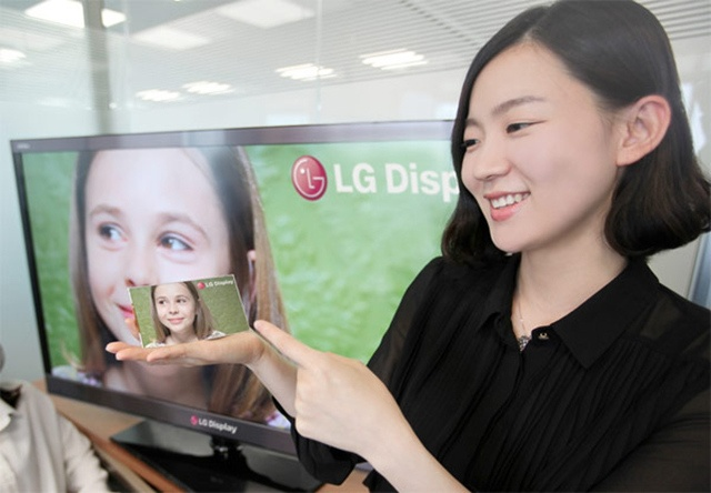 LG Display debuts five-inch Retina Display killer with 1080p HD resolution and 440ppi pixel density.