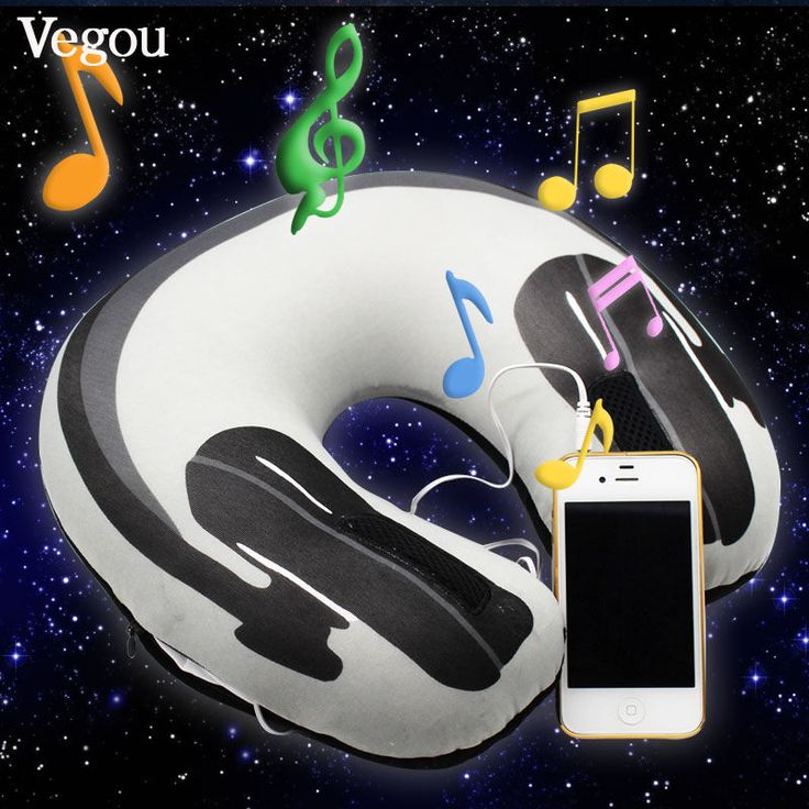 Musical Neck Pillow U Shaped Travelling Neck-Pillow Speaker Foam Rest Airplane  #MusicalNeck