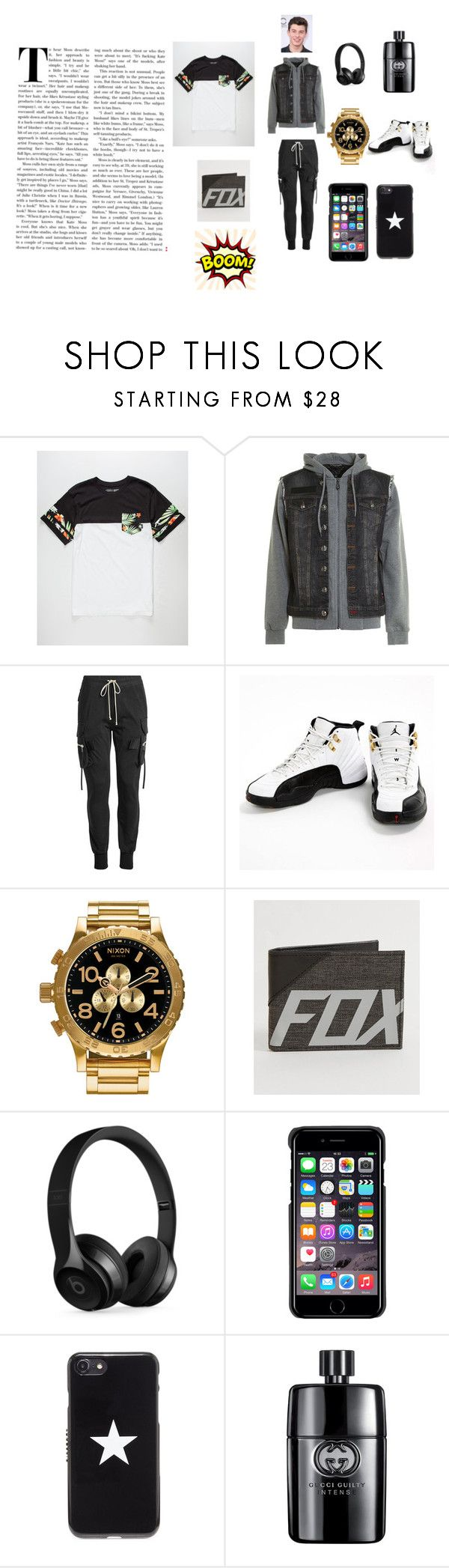"""the black and white outfit"" by sharifa-a on Polyvore featuring Vans, Philipp Plein, Rick Owens, Jordan Brand, Nixon, Fox, Beats by Dr. Dre, County Of Milan, Givenchy and Gucci"