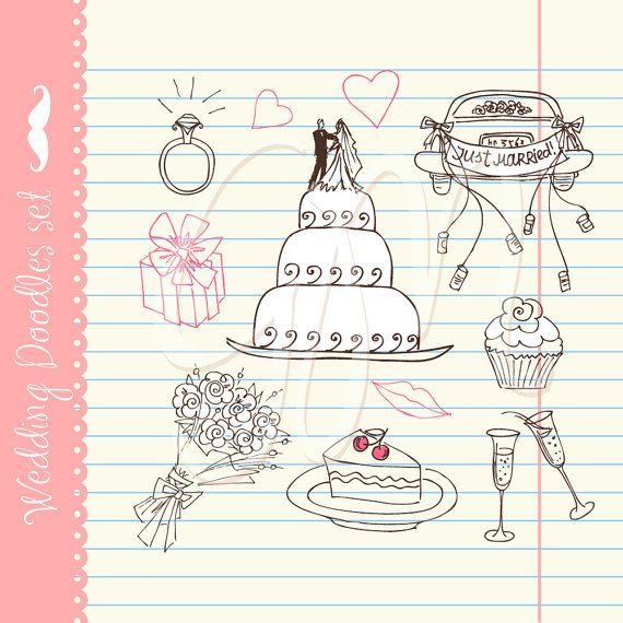 Wedding Digital clip art for wedding invites by GraphicMarket, $4.99