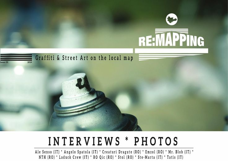 Re:mapping Graffiti&street art on the  local map   ISSN 2393 – 1132  ISSN–L 2393 – 1132  We travel, we meet, we learn and work together, we talk about graffiti, street art and urban art, we spread the word. We reanimate urban spaces and urban sub-cultures  through street art interventions. We are always looking for new locations and communities, partners and collaborators, in order to reinforce urban solidarity by bringing together young people with different social and cultural ...