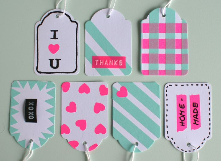 Cute Washi Tape Tags