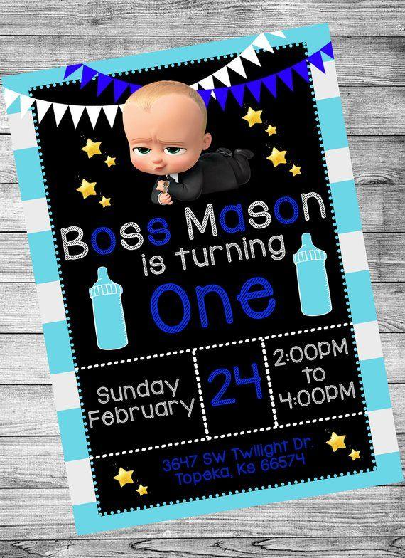 Boss Baby Birthday Invitation 5x7 DIGITAL FILE In 2019