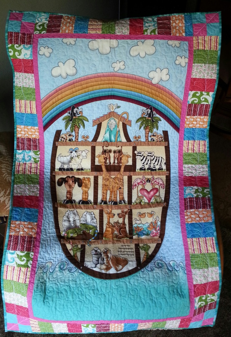 Quilted Wall Hanging From A Panel Of Fabric Panel
