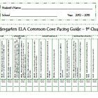 This packet includes quarterly pacing guides for ELA Common Core Standards for kindergarten.  Also included are student record sheets to document d...