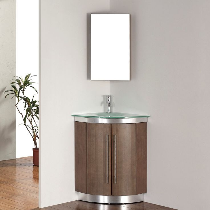 Effigy Of Corner Vanity Set Solution For Small Space
