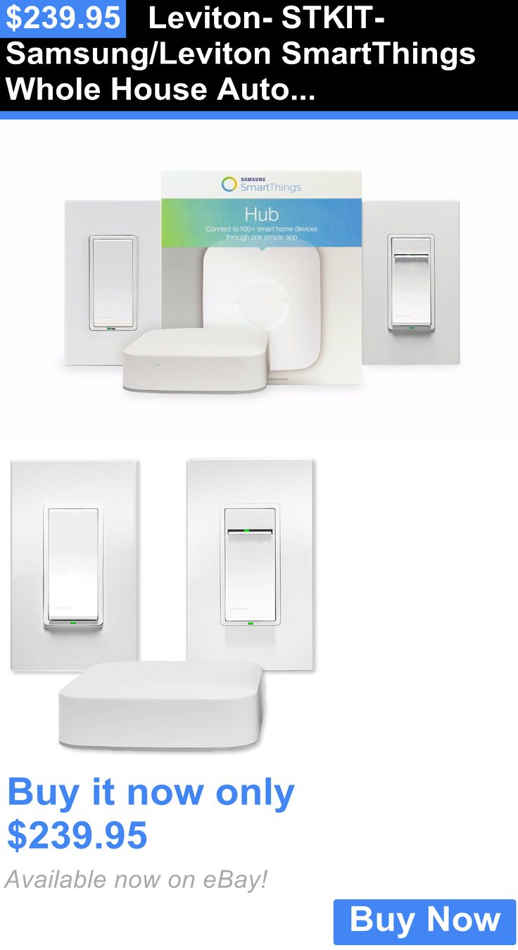Home Automation Kits: Leviton- Stkit- Samsung/Leviton Smartthings Whole House Automation Bundle BUY IT NOW ONLY: $239.95