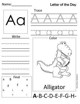 Free! Summer ABC...cute practice for preschool