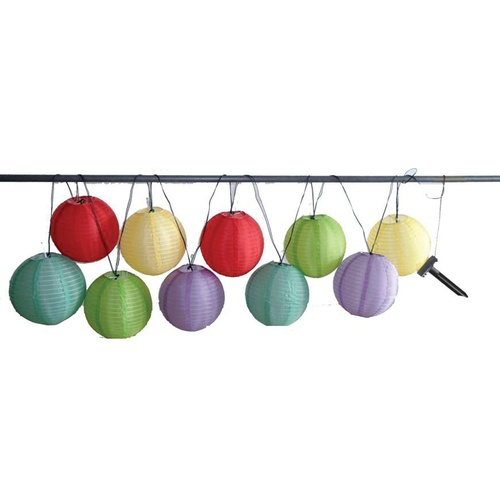 Large Lantern String Lights : Zoomed: 10-Light Large Solar Multicolor Lantern String Lights party party party Pinterest ...
