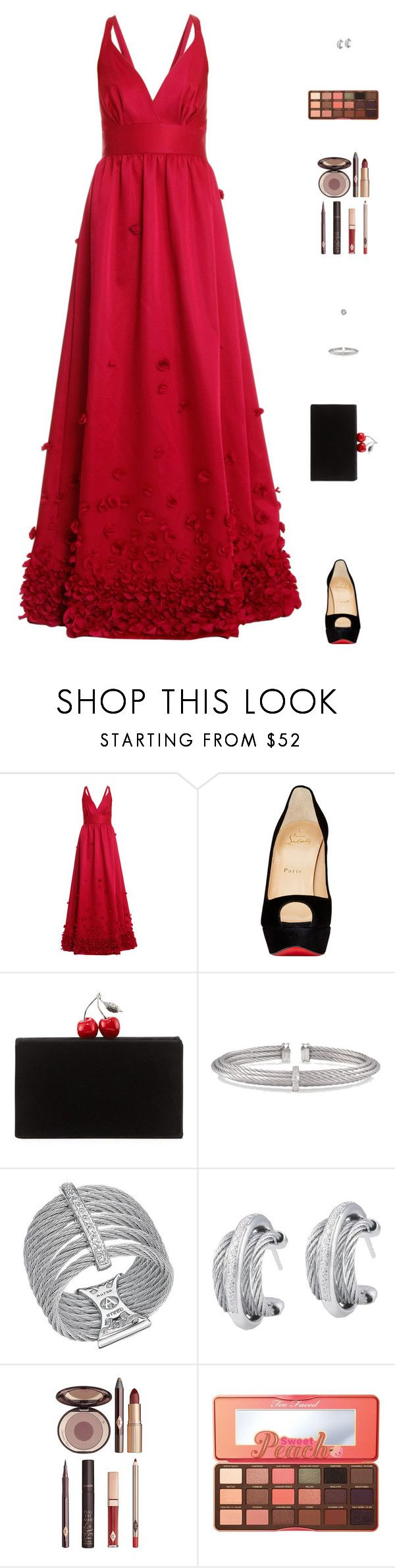 """""""Sin título #4968"""" by mdmsb on Polyvore featuring moda, Temperley London, Christian Louboutin, Edie Parker, Alor, Charlotte Tilbury y Too Faced Cosmetics"""