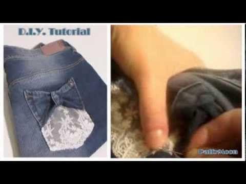 DIY Tasche Jeans con fiocco - YouTube