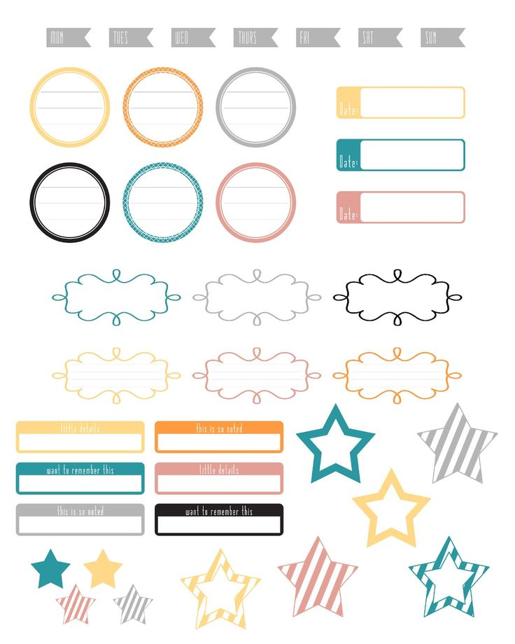 Free Silhouette Print & Cut Label Sheet - from 'A Vegas Girl at Heart'