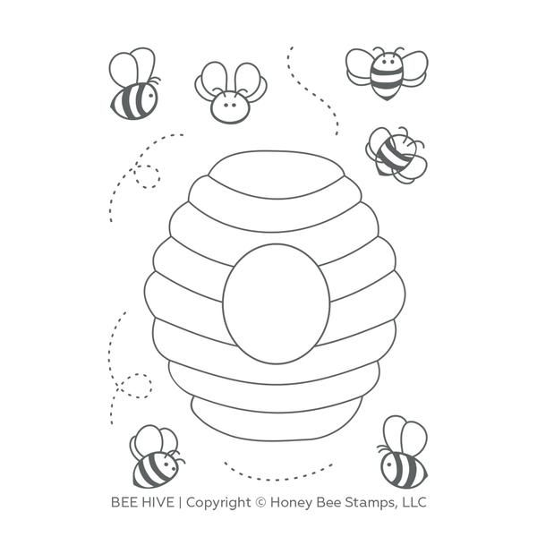 Bee Hive 3x4 Stamp Set Honey Bee Stamps Bee Coloring Pages Bee