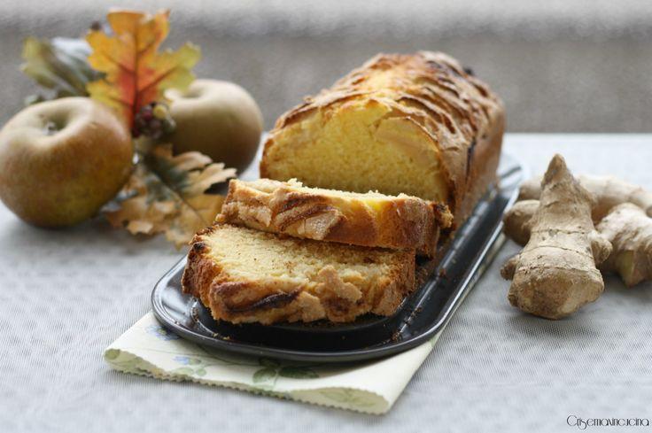 il plumcake mele e zenzero, un semplice dolce che conquisterà i vostri ospiti per il suo gusto aromatizzato di zenzero...
