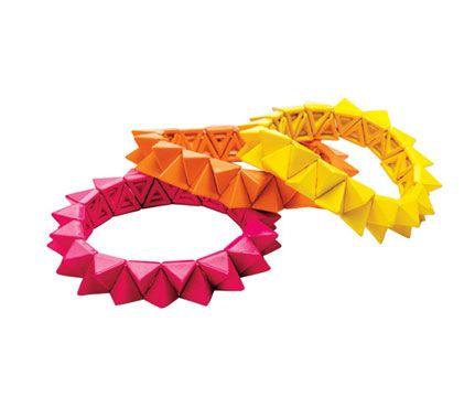 Neon bendy bracelets
