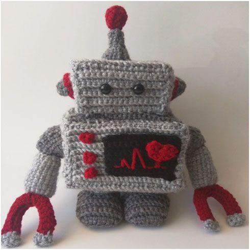 Crochet Star Pattern Amigurumi : Crochet Robot Plush - Free Pattern Patterns, Crochet and ...