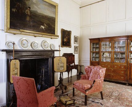 The Parlour (o sala de fumadores) en Hanbury Hall, Worcestershire