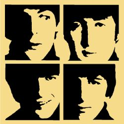 Beatles faces!